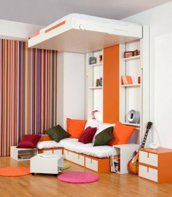 Двухъярусная кровать для взрослых с подъемным механизмом