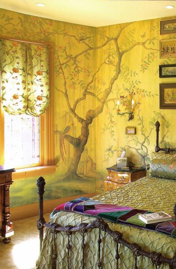 wandmalerei-ideen-baum-gelb