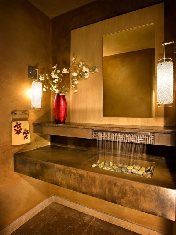 Раковина для ванной с водопадом