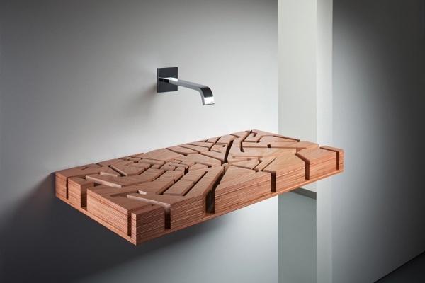 Деревянная раковина-лабиринт