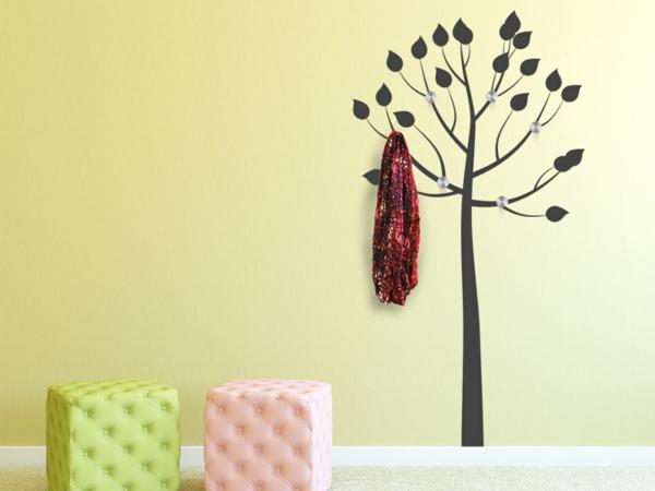 Наклейка на стену тонкое дерево