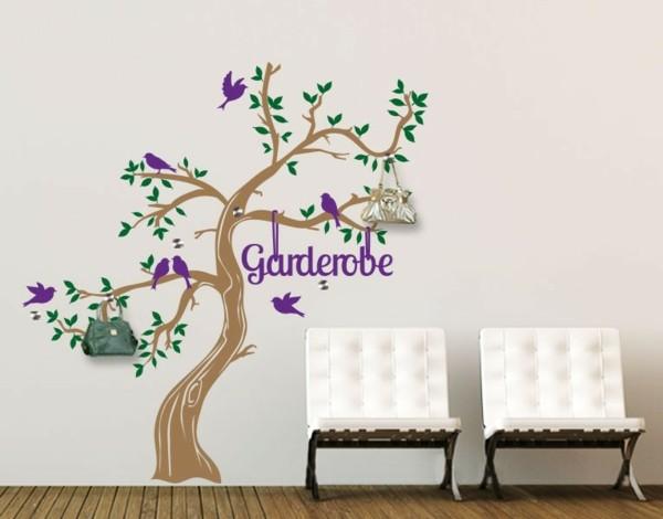 Наклейка на стену цветущее дерево