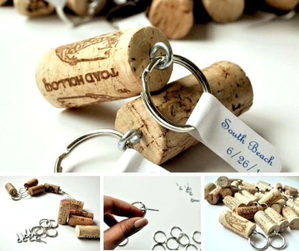 Мастер-класс: как сделать брелок из винной пробки своими руками