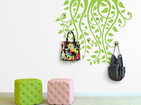 Наклейка на стену светлые лианы