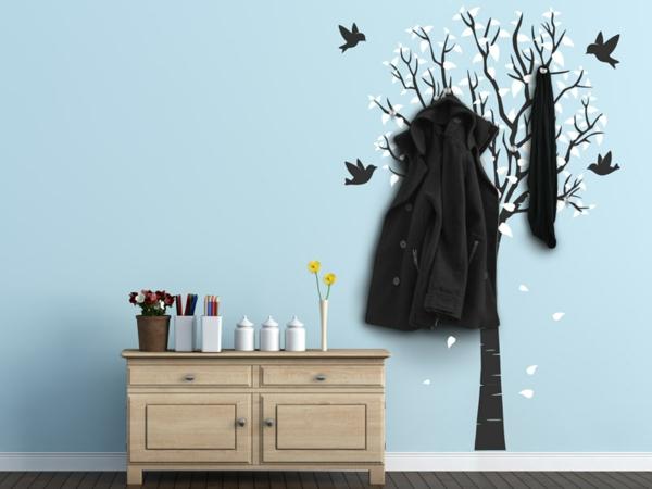 Наклейка на стену зимнее дерево