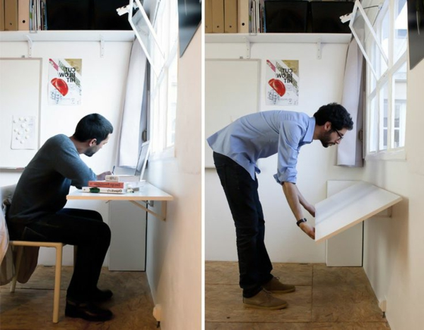 Белый раскладной деревянный стол