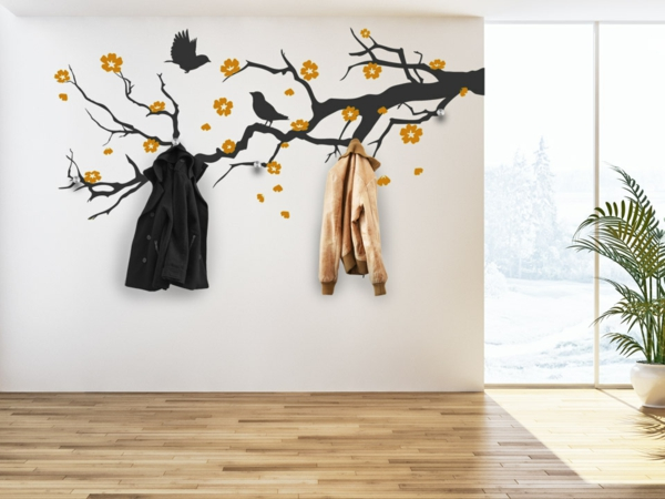 Наклейка на стену осеннее дерево