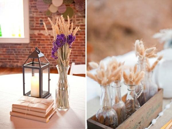 Букеты из пшеничных колосьев