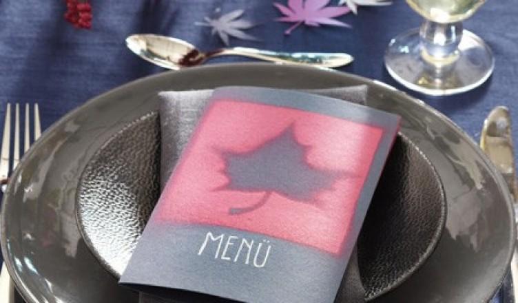 Идея открытки с кленовыми листом своими руками