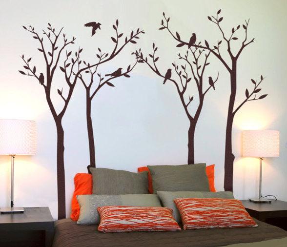 Рисунки в спальне на стенах своими руками