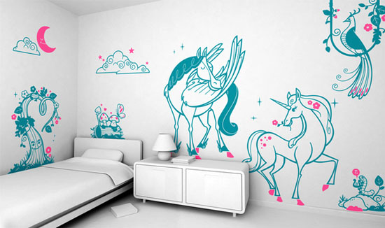 Нарисовать своими руками детскую картину на стене