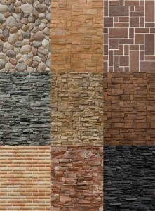 Варианты текстур искусственного камня