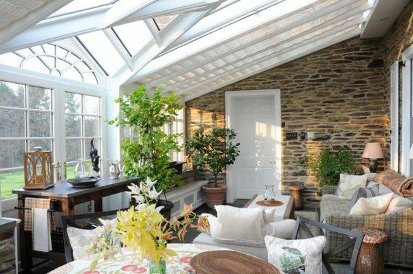Фото: зимний сад в доме - пристройка