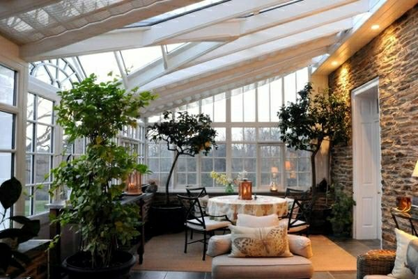 Фото: зимний сад в частном доме