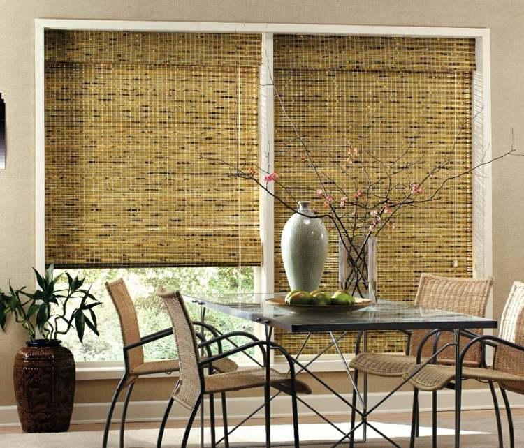 Длинные бамбуковые римские шторы