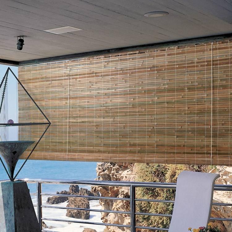 Штора из бамбука в качестве разделителя