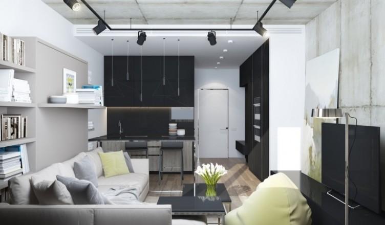 6 идей дизайна квартиры-студии 30 кв.м. с фото