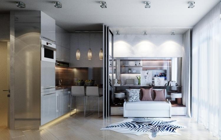10 Дизайн однокомнатной квартиры от Екатерины Ремизовой