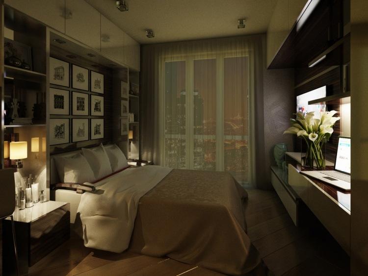20 интерьер однокомнатной квартиры студии 20 кв м спальная зона раскладной диван
