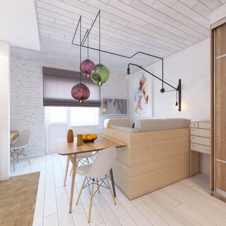 27 дизайн однокомнатной квартиры студии 28 кв м современный стиль