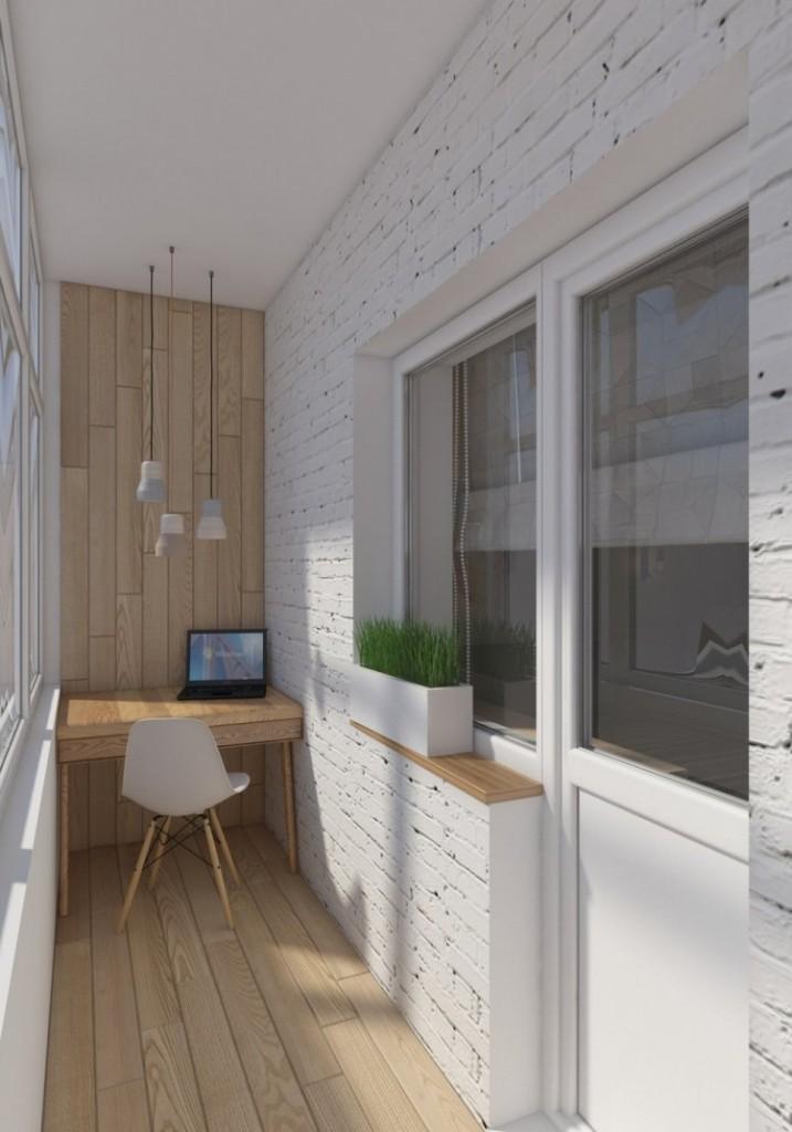 29 перепланировка однокомнатной квартиры хрущевки скандинавский стиль дерево балкон рабочее место