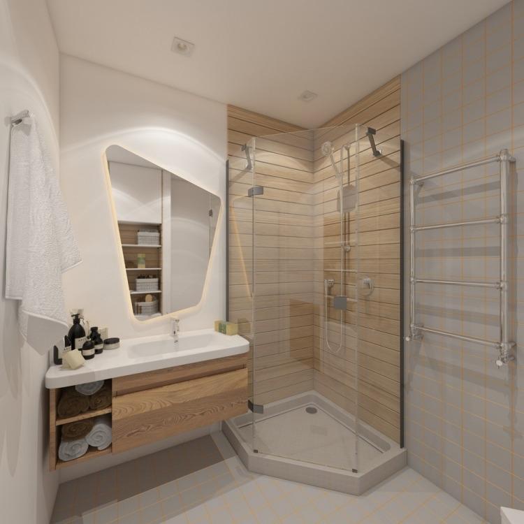 30 дизайн маленькой квартиры 28 кв м ванная угловой душ современный стиль