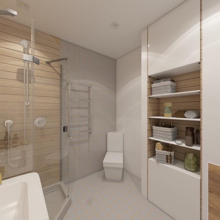 31 планировка однокомнатной квартиры студии минималистичная ванная угловой унитаз