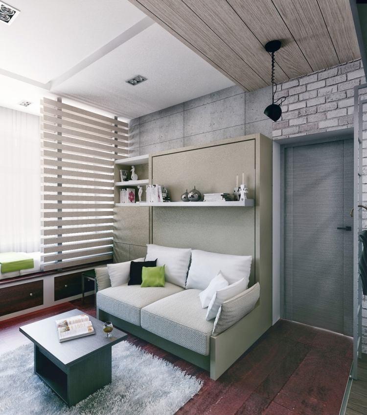 38 интерьер однокомнатной квартиры студии 21 кв м раздвижной диван современный стиль