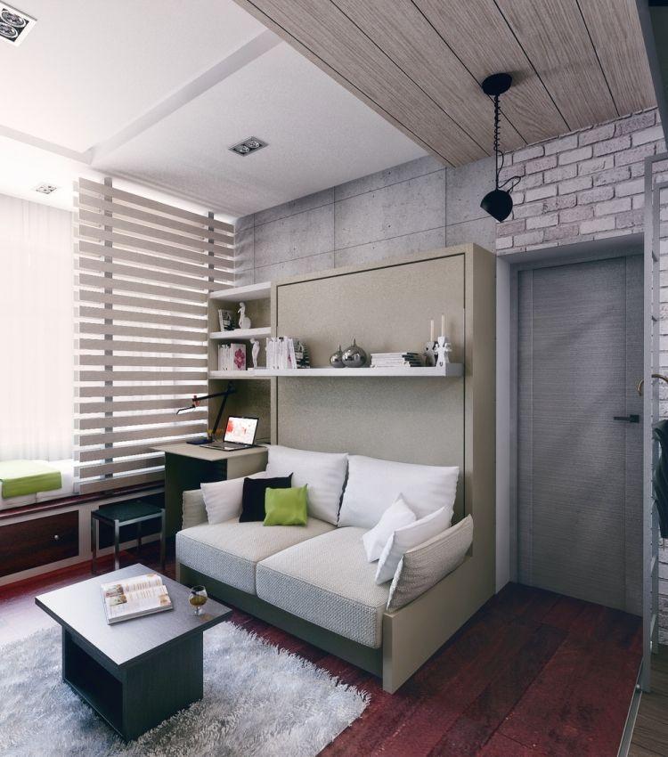 42 дизайн однокомнатной квартиры студии 21 кв м мебель трансформер рабочий стол кровать