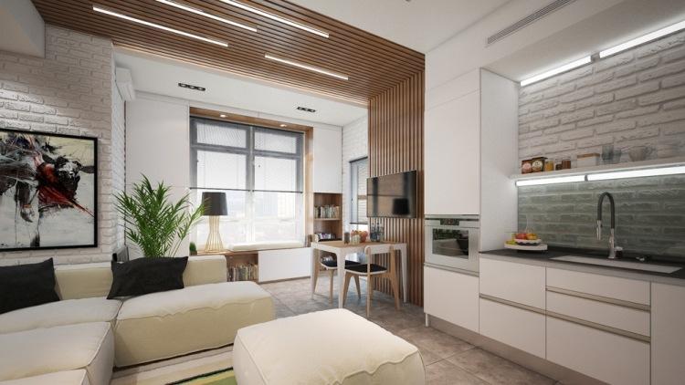 Дизайн квартиры 45 кв.м с балконом
