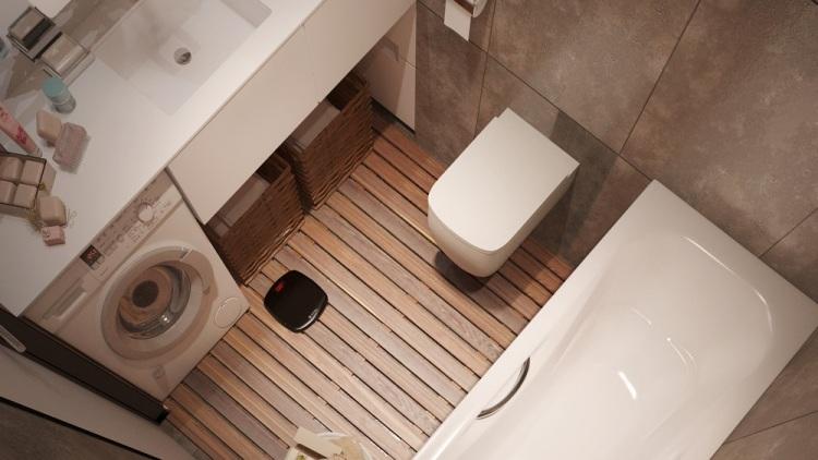 53 дизайн интерьера однокомнатной квартиры студии 30 кв м ванная деревянный пол стиральная машина