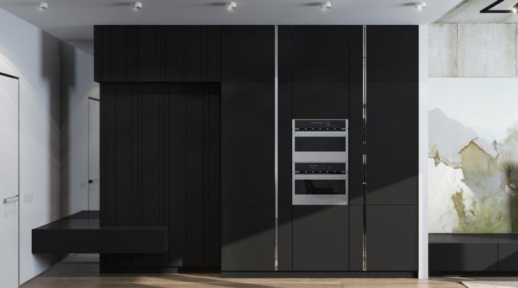 6 Встроенный шкаф с глянцевой поверхностью