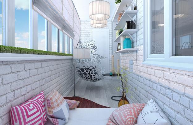 Фото Красивый балкон в квартире