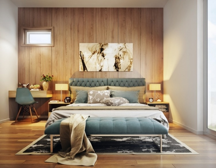 Красивая спальня в светлых пастельных оттенках