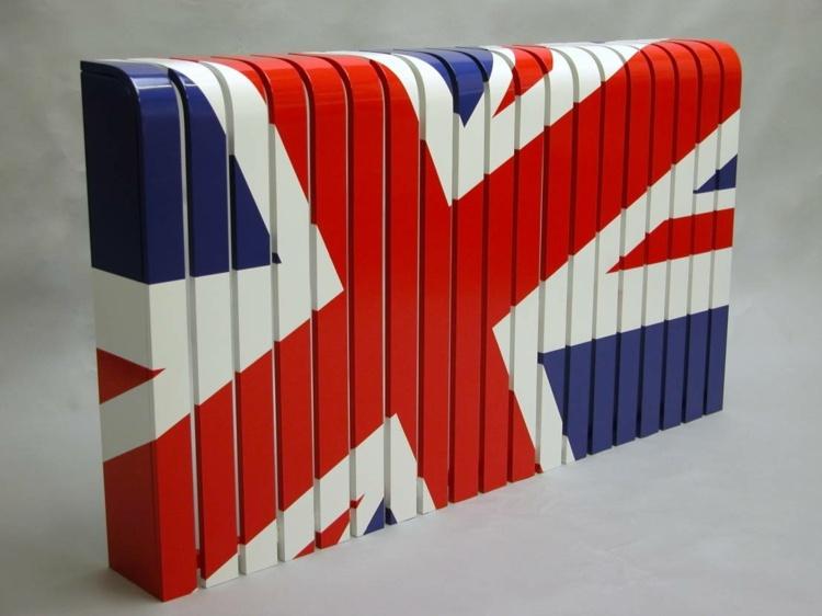 Металлический короб для батареи с британским флагом