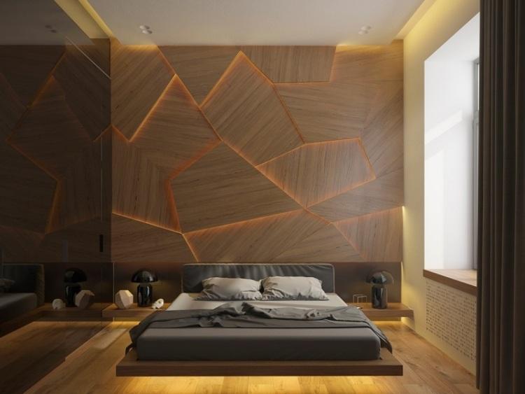 Необычная подсветка в спальне