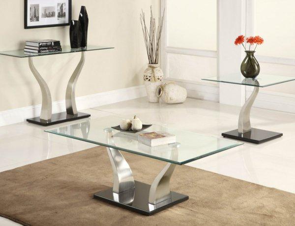 Одинаковый дизайн столов со стеклянной столешницей для различных целей