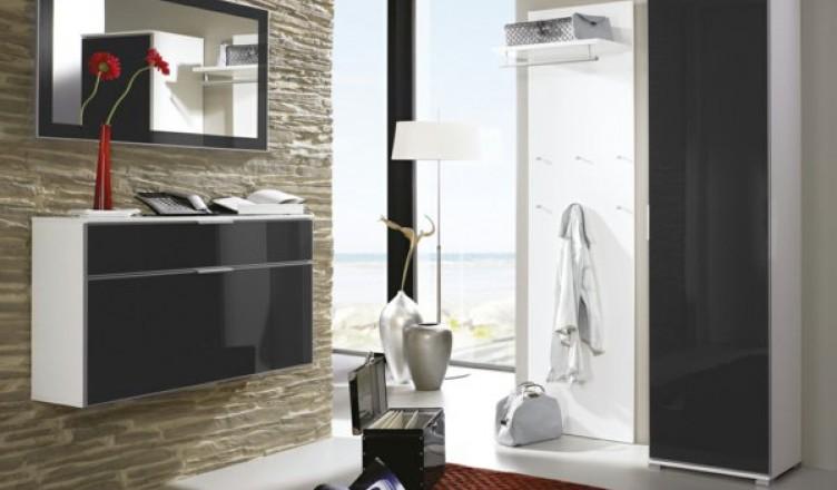 Современная мебель для прихожей с глянцевыми фасадами фото