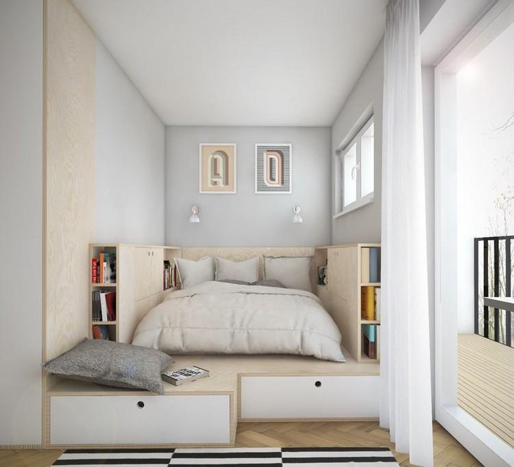 Увеличьте полезную площадь спальни за счет ящиков под кроватью