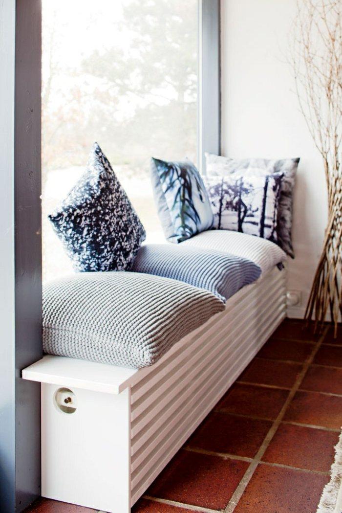 Уютная скаймейка-решетка для радиатора