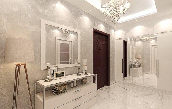 Великолепный дизайн прихожей в мраморе