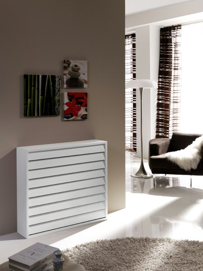 Элегантный экран для радиатора в современной обстановке