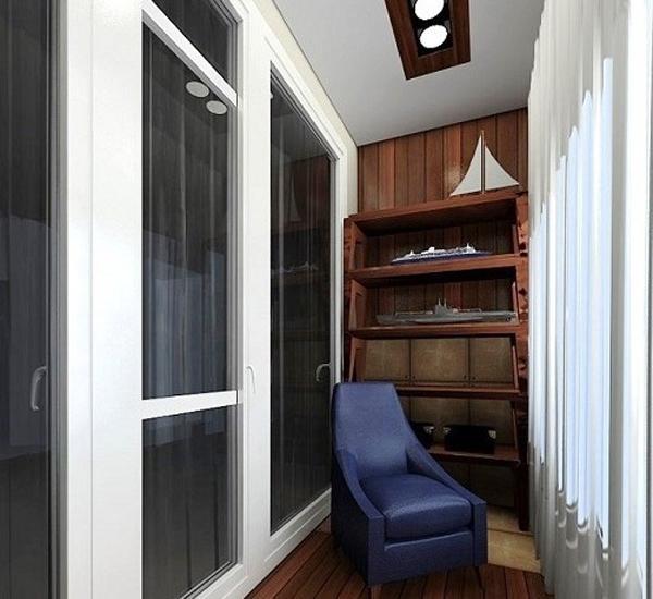фото Идея дизайна балкона в классическом стиле