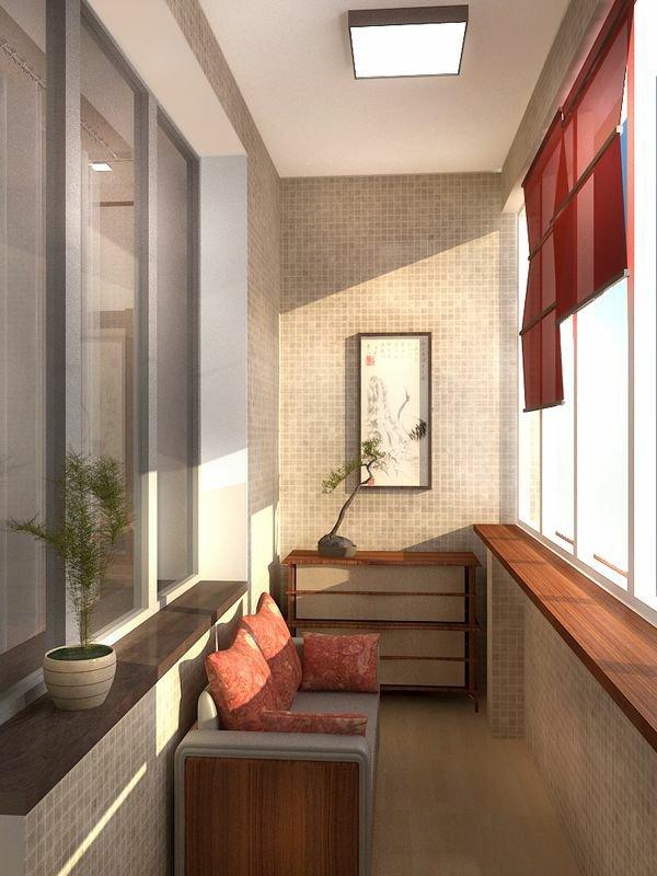 фото Оформление балкона в японском стиле