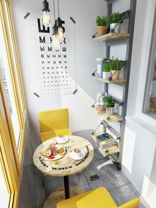 фото Современный дизайн маленького балкона