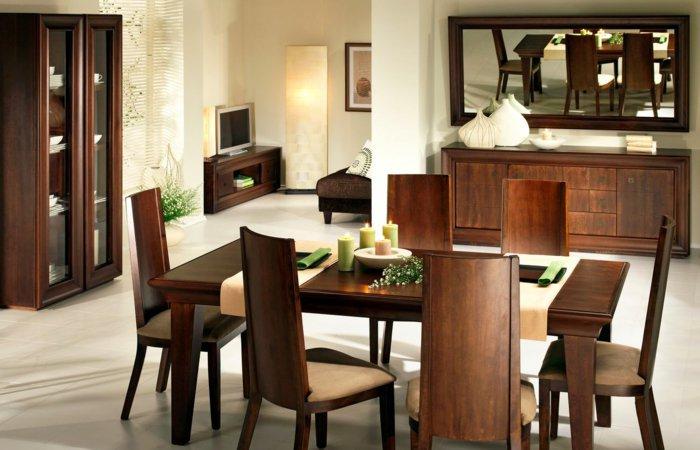 Классическая мебель из дерева в интерьере столовой фото
