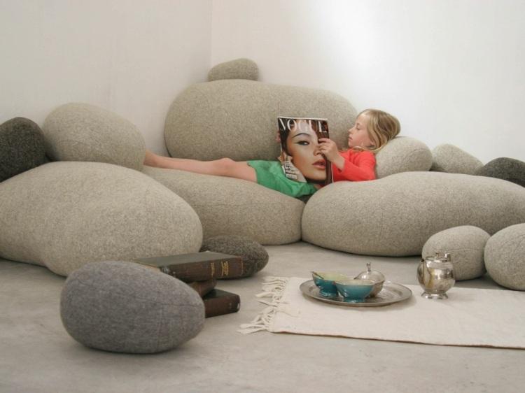 Кресла-мешки в виде камней