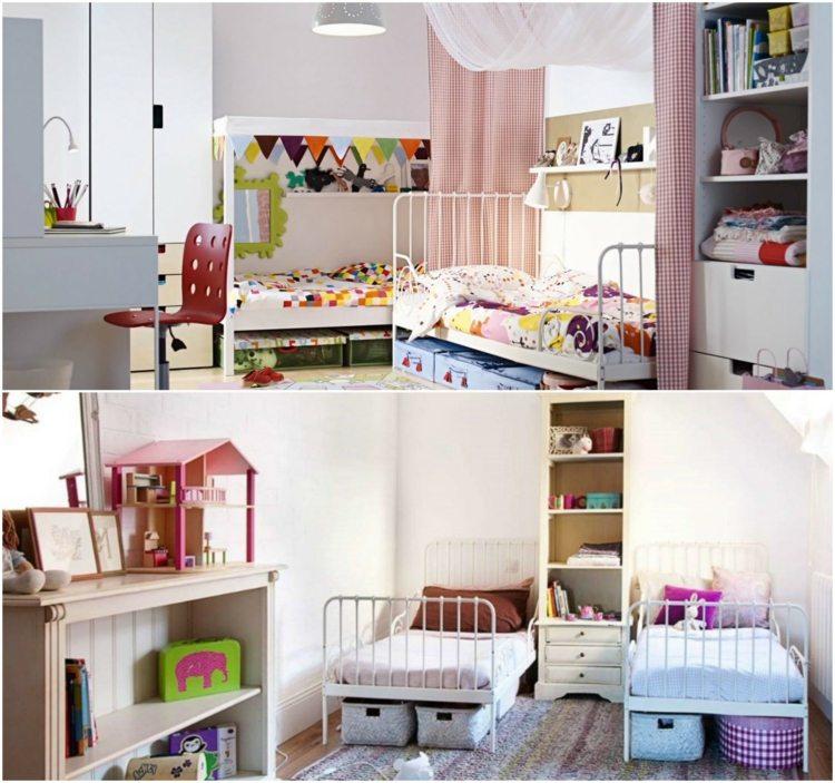 детская комната для двух детей фото яркий интерьер
