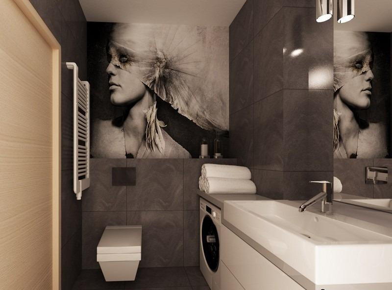 дизайн фото современные идеи с фотообоями портрет черно-белый
