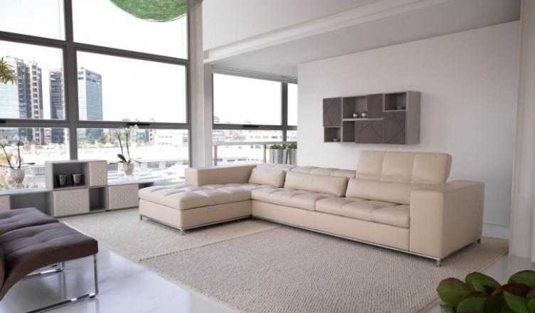 дизайн угловых диванов фото бежевый кожаный угловой диван